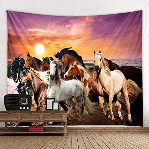 TJJY tapijtwerk Paard print muur hippie tapijt polyester stof decoratie wandtapijt kleed opknoping grote bank deken
