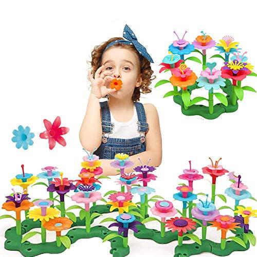 Juguetes Construcción Jardín Flores, 98 Piezas Juguete Bloques Construcción Jardín Flores, Juguetes Jardín Flores para Niños, Jardín Flores Juguetes, Los Mejores Regalos para Niñas de 3-6 Años