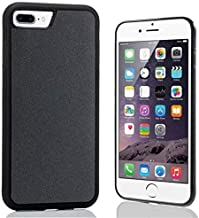 imluckies Anti Gravity Phone Case for iPhone 8 Plus / 7 Plus/ 6s Plus/ 6 Plus, Goat case Magical Nano Technology can Stick to Glass, Whiteboards, Metal and Smooth Surfaces [Black]