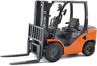 KDW 1/20 Scale Die-cast Forklift Car Toy Metal Model Construction Engineering Vehicle Orange
