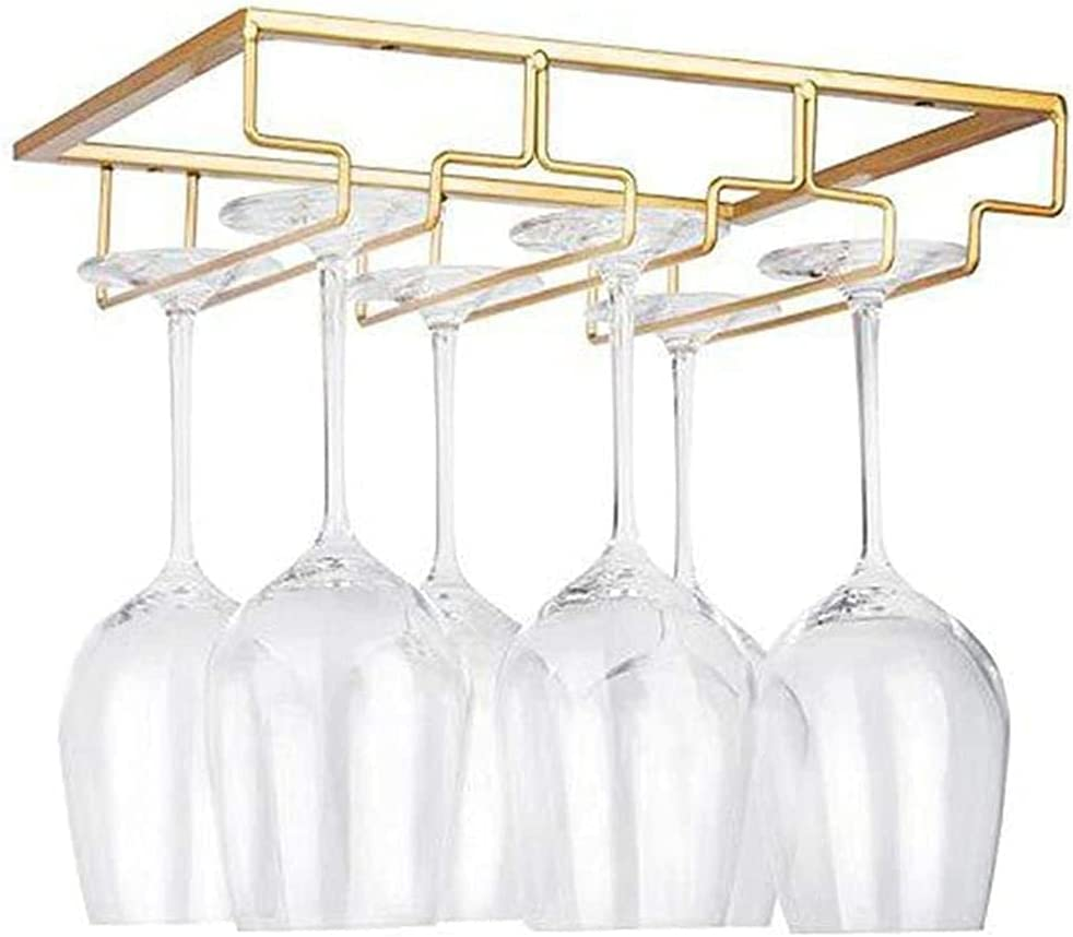Wine Fashion Glasses Rack 3 Rows Under 8 Scre Cabinet Max 86% OFF Stemware with