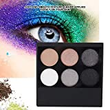 Paleta de sombras de ojos de 6 colores, paleta de sombras de ojos Spotlight Professional, paleta de sombras de ojos Glitter Matt Nude Eye Shadow Makeup Cosmetic(04)