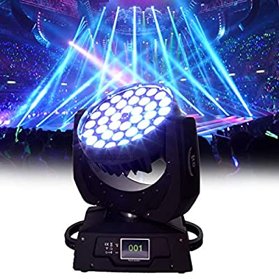 Yonntech 4 in1 LED Zoom Moving Head Disco Light 36 x10W Wash Stage Light DMX512 control 12/16 Channel (Stage Light)