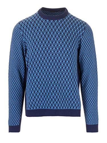 Luxury Fashion | Prada Heren UMA946S1921LR2F0HYF Donkerblauw Wol Truien | Herfst-winter 19