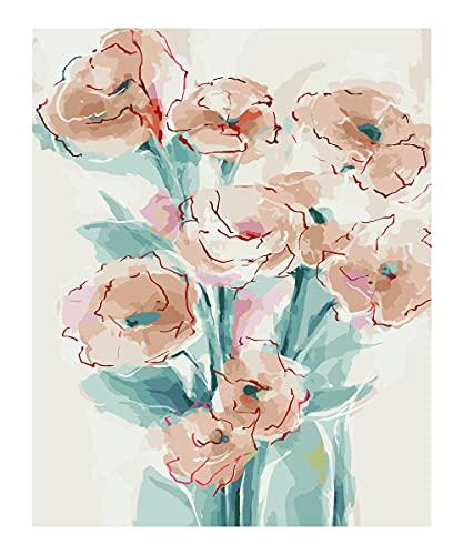 Pintura Por Numeros Flores Marca SUMGAR
