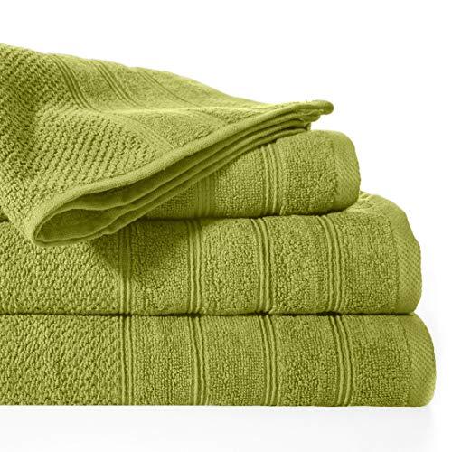 Design91 badstof handdoek olijfgroen 100% katoen badhanddoek badhanddoek badkamer, 50X90cm