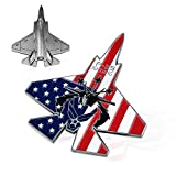 Indeep US Air Force Challenge Coin Colorized F-35 Lightning II Fighter Jet Military Coin for Airman