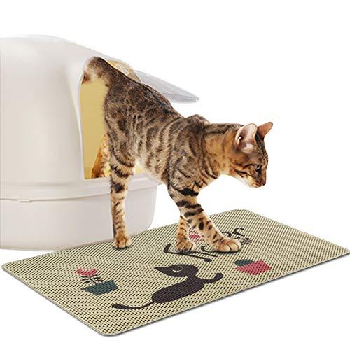 FREESOO Estera de Arena para Gatos Impermeable Alfombrilla