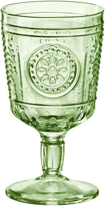 Copas verdes de cristal