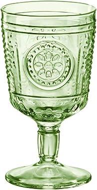 Bormioli Rocco Rocco - Vaso de cerámica (4 unidades, 120 ml), color verde pastel