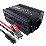 ZHITING Inversor de Corriente de Coche 300W Convertidor 12V a 220V Inversor Onda Modificada con 2 USB Power Inverter para iPhone Tableta TV