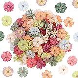 Cabezas de Flores Artificiales 100Pcs Cabezas de Margaritas Artificiales Decorativas Mini Flores de Seda Cabezas de Flores Falsas para Manualidades Guirnalda Boda Decoración del hogar (4.5cm)