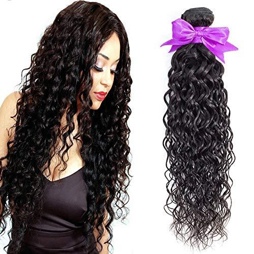 Morningsilkwig Cabellos humanos 1 Bundle Water Wave Mujeres de cabello peluca 100% cabello humano real 100g/pcs Cabello Virgen de Brasil Pelo negro