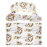 Moda Bebé envoltura de tela traje de orejas de conejo traje de impresión es toalla manta elástica boho impresa turbante trenzado cabeza envolver banda for el cabello suave ( Color : White )