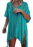 EDOTON Mujer Camisolas Playa Ganchillo Ropa de Baño Encubrimientos Bikini Cover Up Verano Tunica Vestido de Playa Ropa de Baño