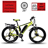 Hyuhome Electric Bikes for Adult, Magnesium Alloy Ebikes Bicycles All Terrain,26' 36V 350W 13Ah Removable...