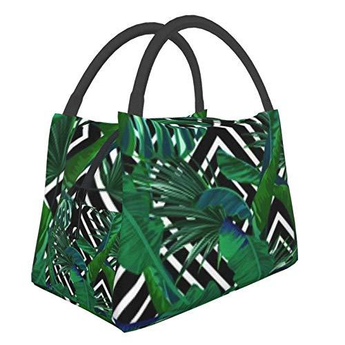 Bolsa de almuerzo portátil con aislamiento Cool (Tropical Pattern Palm Tree) 8.5L