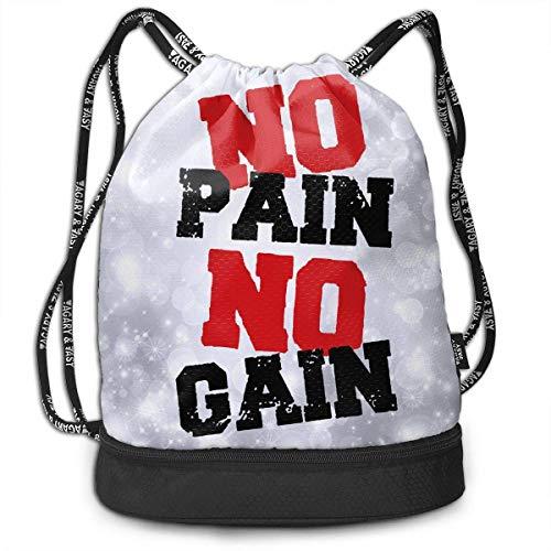 Rucksäcke,Sporttaschen,Turnbeutel,Daypacks, No Pain No Gain Bundle Backpack Fashion Gym Bag
