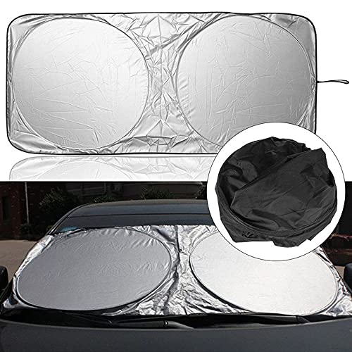 Parasoles de coche 150x70cm Accesorios para automóviles Sombrillas de sombrillas Pegatina para BMW E39 Mercedes Benz W211 Audi A4 VW Passat para Peugeot 407 Mazda 3 Ford Focus 2 Parasoles de parabrisa