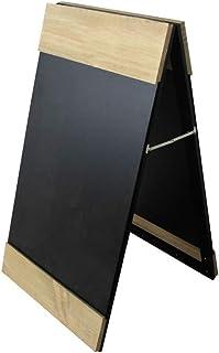 Lpinvin Pizarras Muestra de Madera A-Frame autoportante Mensaje de la Vendimia rústica consideró un tablón de exhibición d...