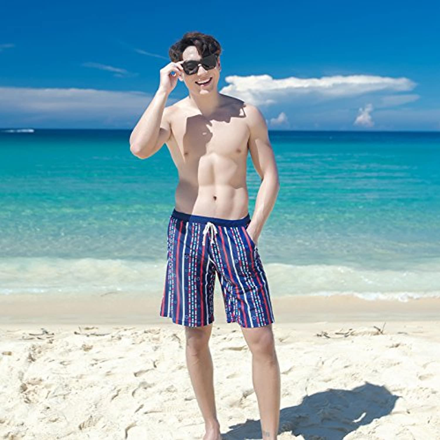 HAIYOUVK Couple Siamese skirt-style steel plate gather + men's swimming trunks comfortable hot spring vacation beach
