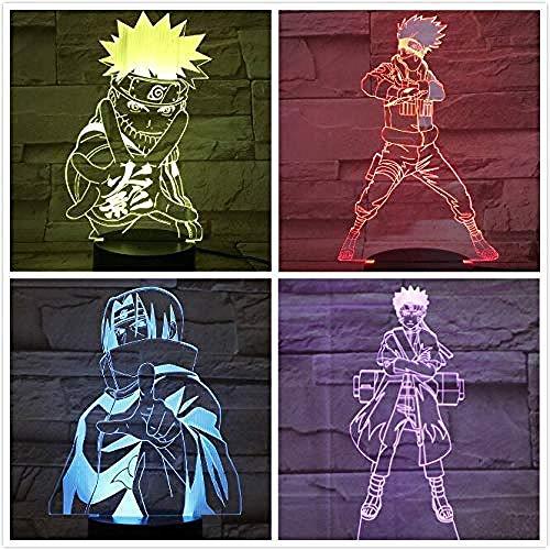 Hokage Kakashi Figur USB 3D LED Nachtlicht Gaara Touch Sensor Dekorative Lichter Jungen Kind Kinder Geschenk Naruto Tischlampe Nachttisch A-1927