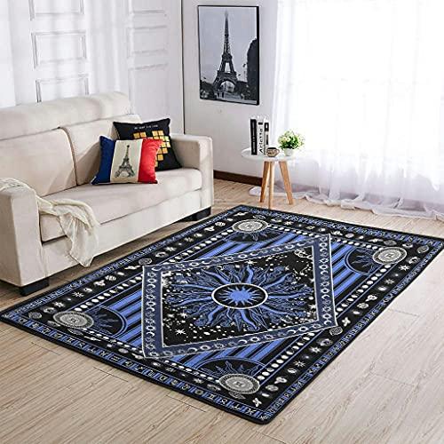 shenminqi Alfombra grande para decoración del hogar, para interior/dormitorio/sala de estar, cuerpos celestiales, blanco 122 x 183 cm