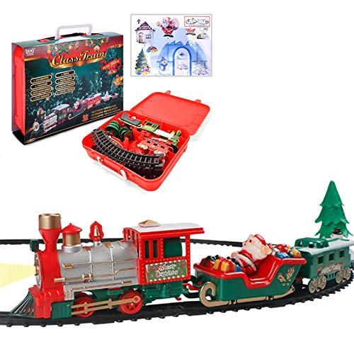 Horypt Juego de Trenes de Navidad con luz y Sonido, Tren de...