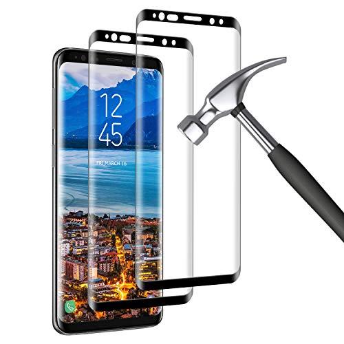 Verre Trempé pour Samsung Galaxy S8, (2 Pièces) 3D Couverture Complète [Dureté 9H] [Anti-Scratch] [sans Bulles] HD Film de Protection d'écra pour Samsung Galaxy S8