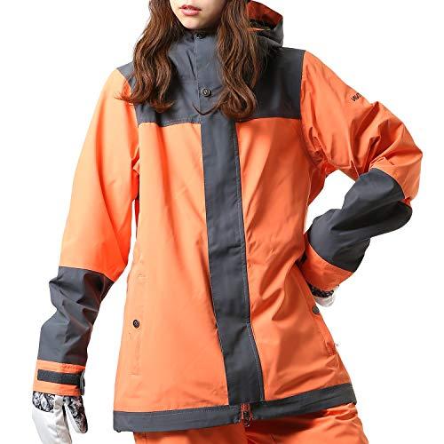 Nikita Damen Sequoia Shell Jacke, orange grau, M EU