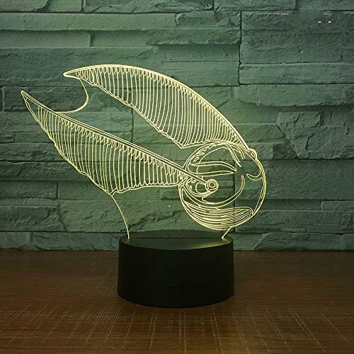 Nur 1 Stück Fußball Neuheit Acryl 3D Lampe Stall Neuheit USB Nacht LED Lampe Licht Fixturenovelty tion 3D Blitz Nachtlicht