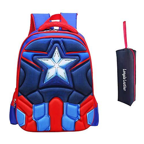 Mochila para niños Mochila primaria Súper héroe Capitán americano mochila para niños