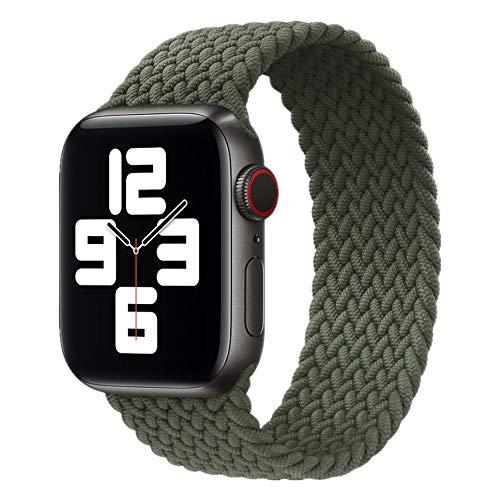 Apple watch バンド ブレイデッドソロループ 編組バンド コンパチブル スポーツバンド 交換ベルト 柔らかいシリコーン糸混紡リサイクルヤーン素材 耐衝撃 防汗 apple watch Series 6/5/4/3/2/1/SE対応 38mm/40mm/42mm/44mm アップルウォッチ バンド iwatch バンド; セール価格: ¥1,699 - ¥1,784