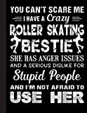 Roller Skating Bestie Notebook: Lined Notebook / Journal Gift, Ski, 120 Pages, 8.5 x 11 inches , Personal Diary, Personalized Journal, ... work, or home!, Soft Cover, Matte Finish