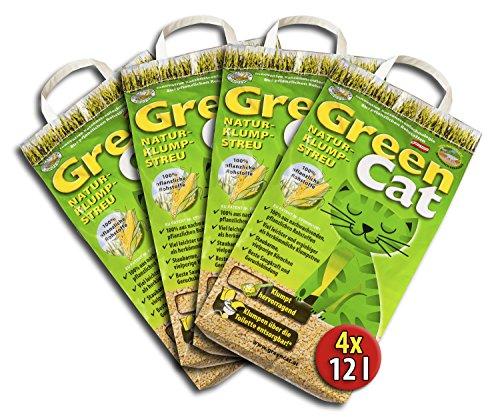 4x12 =48 Liter GREENCAT NATURSTREU ÖKO-PLUS GREEN CAT`S KATZENSTREU - BEST STREU GREEN CAT - kostenloser Versand innerhalb Deutschlands (außer Inseln)