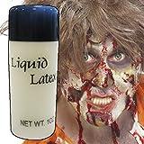 NET TOYS Latex Liquide pour Cicatrices et blessures Latex Flacon de 28 ML Maquillage en Plastique Liquide Naturel cosmétique de théâtre pâte à Modeler grimage Halloween Horreur Accessoires