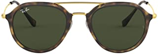 Ray-Ban Injected Unisex Sunglass Square, LIGHT Havana 50 mm