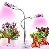 Relassy Lampe pour Plante, 88 LED Lampe de Croissance Dimmable 45W, Double E27 Ampoules Remplaçable, LED Lampe Horticole Spectre Complet pour Les Plantes d'Intérieur Croissance, Floraison