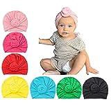 Newborn Hats Baby Girl Headband Hospital Infants Hat Nursery Head Wrap Black Turban…