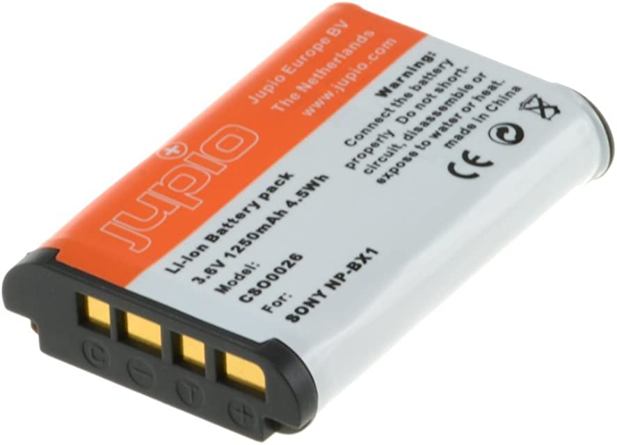 Jupio CSO0026 - Batería para cámara de Fotos Equivalente a Sony NP-BX1 (Lithium Ion 1250 mAh)
