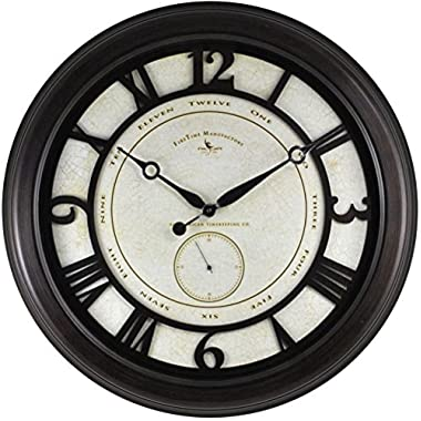 Oversized Aged Wall Clock - 22.5  Oil Rubbed BronzeDimensions: 3 D x 22.5  Diameter Weight: 10 lbs.