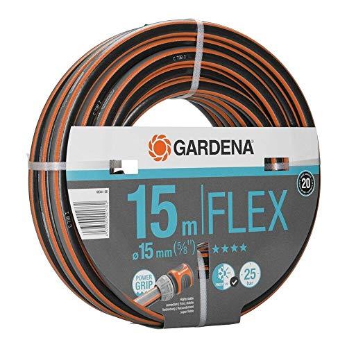 Gardena Manguera Flex Ø 15 mm Rollo de 15 m, Standard, 18041
