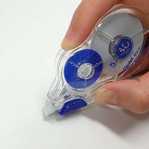 ぺんてる30m修正テープXZT515-W青