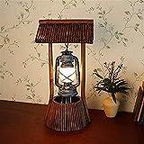 YZYZYZ Lámpara de Mesa Lámparas de Aceite Hechas a Mano de bambú/rústico/Antiguo/linternas/lámparas de Mesa/Bar/Sala de Estar Lámparas de Dormitorio