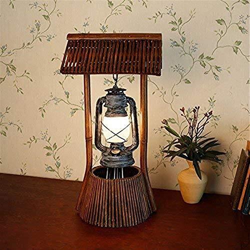 DKEE lámpara de Mesa Lámparas de Aceite Hechas a Mano de bambú/rústico/Antiguo/linternas/lámparas de Mesa/Bar/Sala de Estar Lámparas de Dormitorio