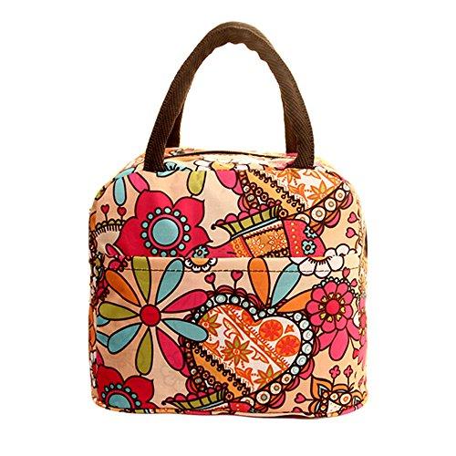 TEBAISE Lunch Tasche Lunchtasche Wasserdicht Leichte Picknicktasche Mittagessen Isoliertasche Thermotasche für Arbeit und Schule Isoliertasche Mittagessen Tasche für Kinder Mädchen Frauen