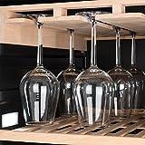 Klarstein Vinovilla Grande - Weinkühlschrank, Getränkekühlschrank, 425 Liter, 13 Holzeinschübe, Touch-Bediensektion, LED-Innenbeleuchtung, Weinglashalterung, Anti-Vibrationssystem, schwarz - 7