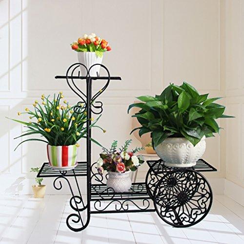 Fleur cadre en fer à étages étagère étagère (taille : 70 * 26 * 66CM)