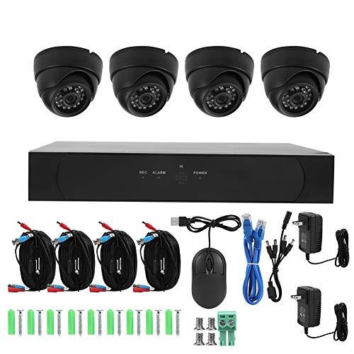 Überwachungskamera-Set, Sicherheitssystem, 4-Kanal, AHD, mit 4 Kameras, Kuppelkameras, 1080P, Digitaler Videorecorder, Smart DVR, wasserdicht IP67, Infrarot, Nachtsicht für intelligentes Zuhause