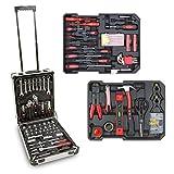 hanSe Werkzeugkoffer Maxi Werkzeug Trolley gefüllt Werkzeugkasten Werkzeugkiste Heimwerker Werkzeugset